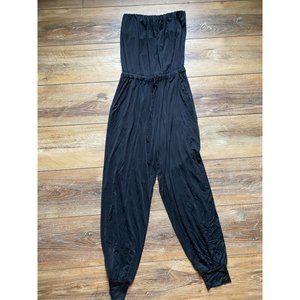 YFB Strapless Black Jumpsuit XS